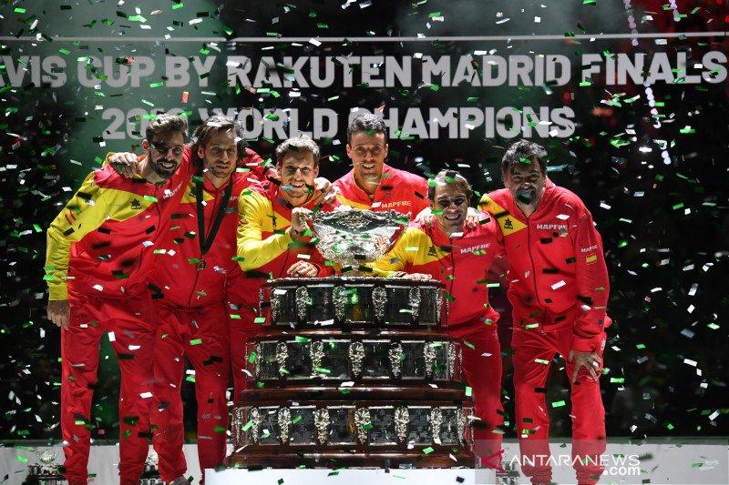 Nadal taklukkan Shapovalov untuk bawa Spanyol juara Piala Davis