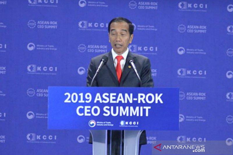 Dalam KTT ROK-ASEAN, Jokowi: Tiga hal perlu dilakukan hadapi resesi