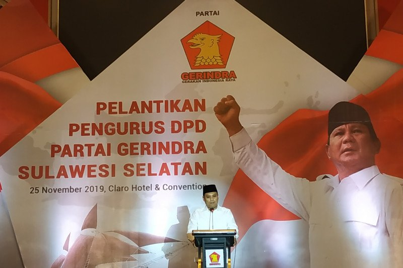 Iwan Aras segera benahi Infrastruktur Partai Gerindra Sulsel
