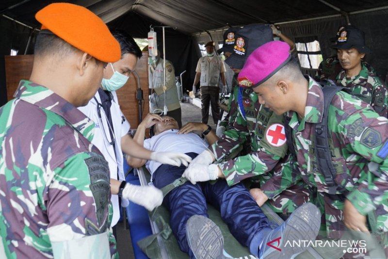 Lantamal VI gelar gladi latihan operasi terpadu penanggulangan bencana 2019