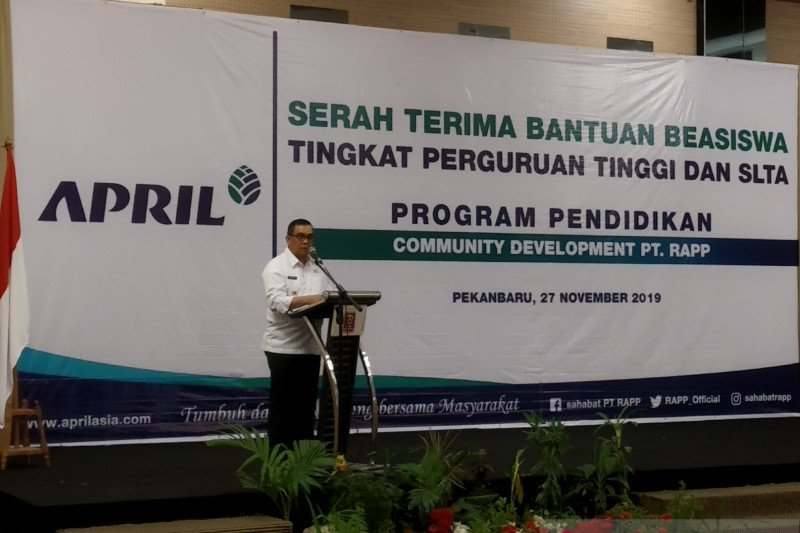 Beasiswa pendidikan RAPP dukung visi Riau 2025