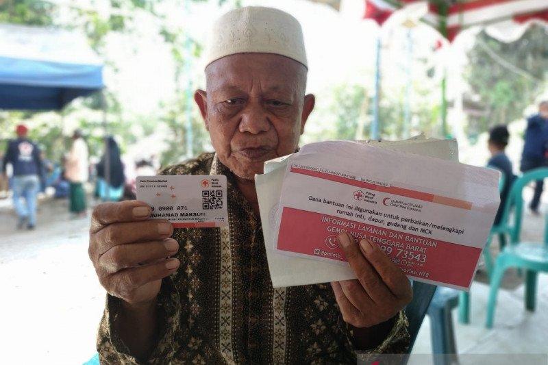 PMI salurkan bantuan berbasis tunai untuk korban gempa Lombok NTB