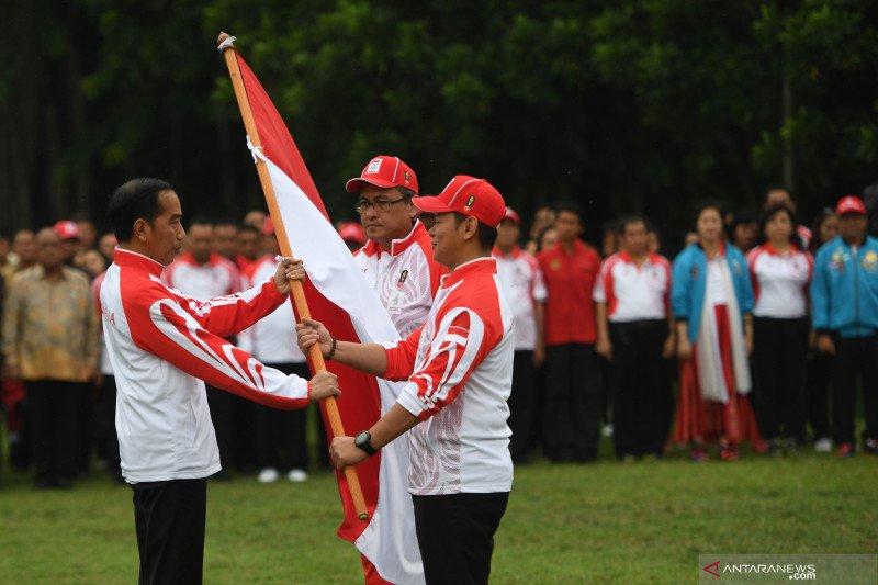 印尼为在菲律宾2019年东南亚运动会准比比赛