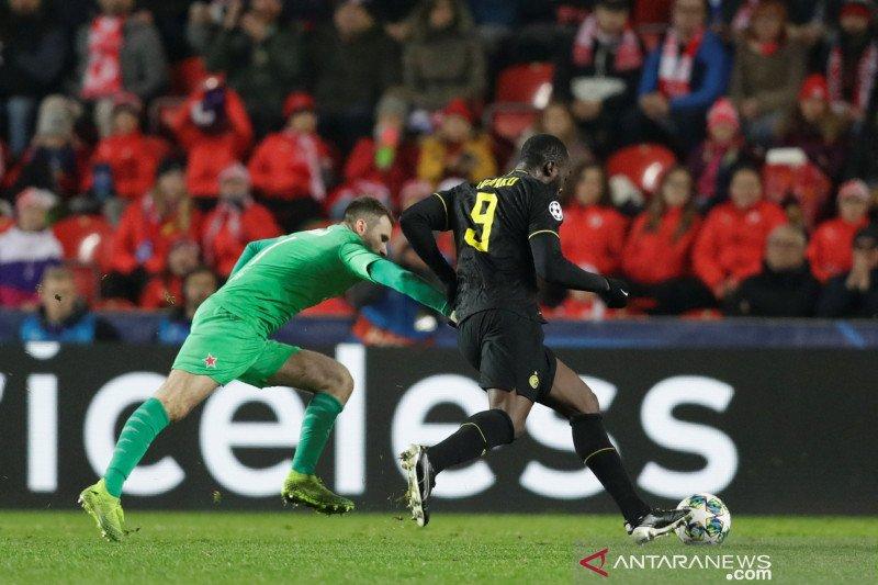 Conte sanjung penampilan Lukaku dan Martinez, Inter menang 3-1 atas Slavia Praga