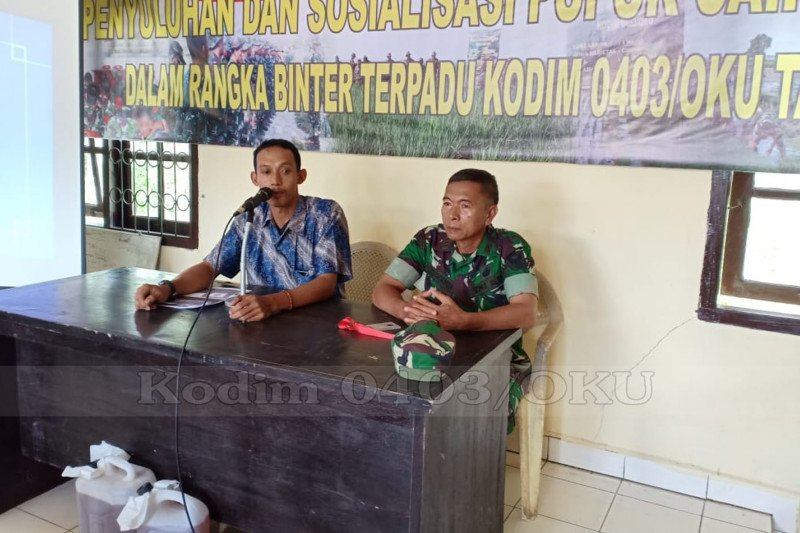 Kodim Ogan Komering Ulu  sosialisasi manfaat pupuk Bios 44