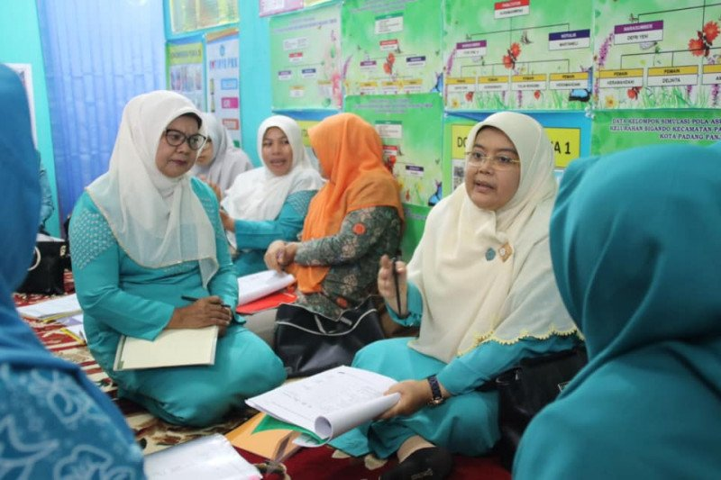 Tim penilai nilai dua kelurahan di Padang Panjang lomba PKK KB-Kes