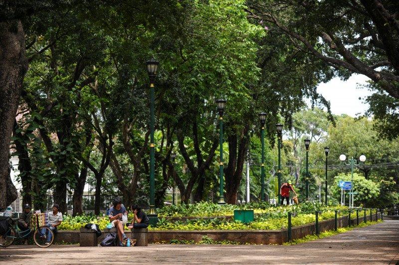 Dinas Perkim Ogan Komering Ulu Selatan bangun  Taman Kota Muaradua