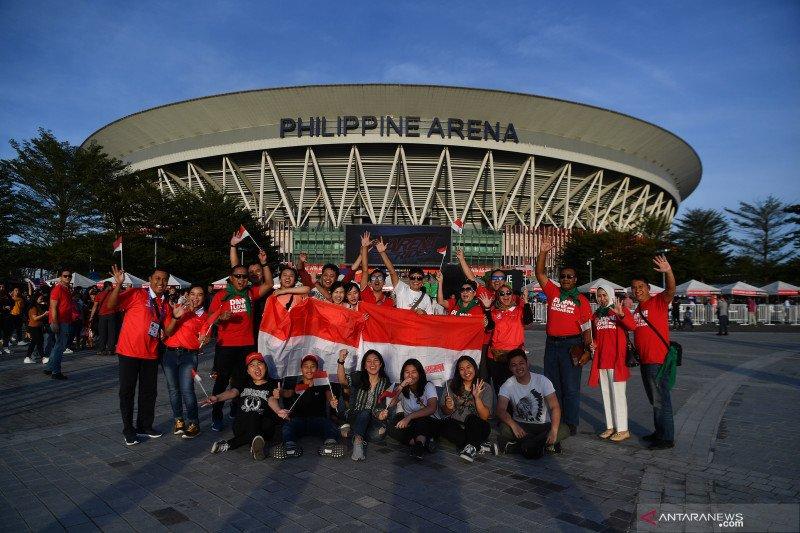 Pedukung Indonesia di SEA Games mayoritas pekerja di Filipina
