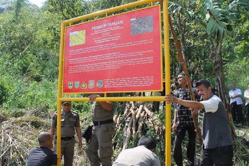 BPN pasang plang informasi rawan bencana di Padang Panjang