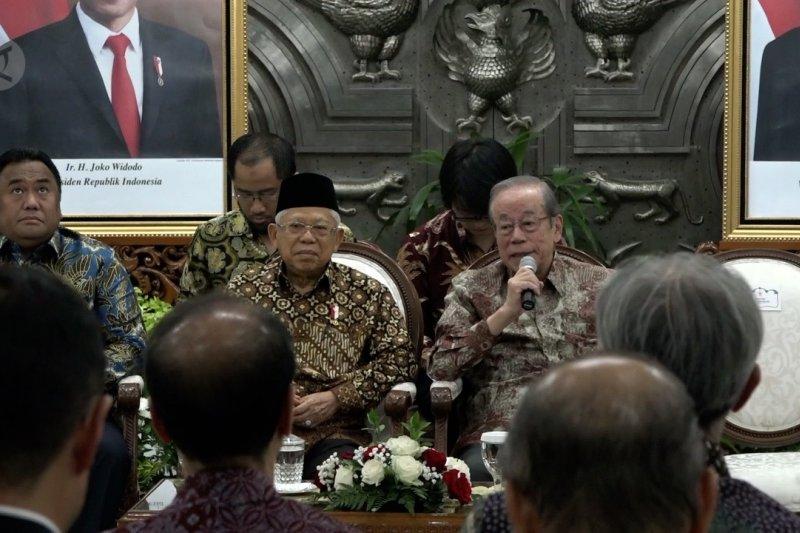 Wapres terima kunjungan eks PM Jepang bahas MRT hingga kereta Surabaya