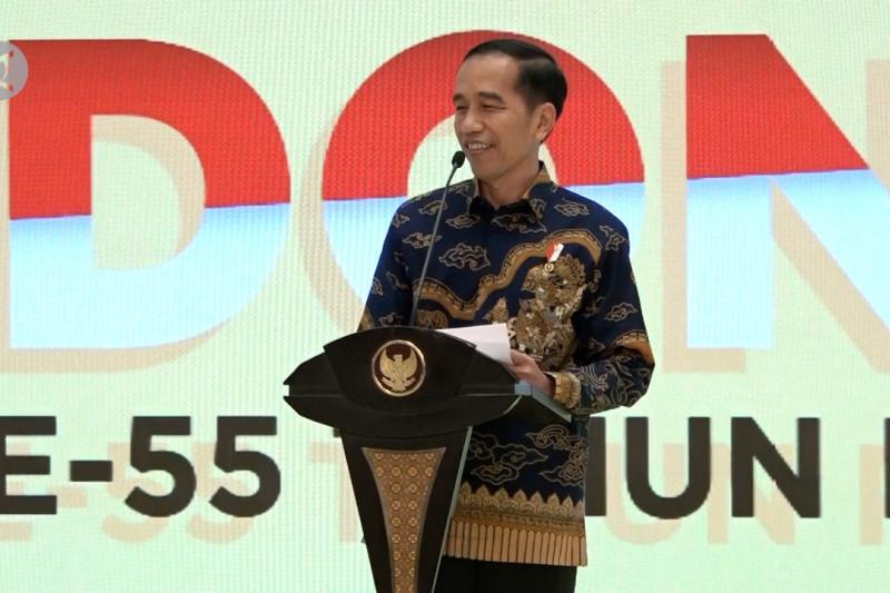 Jokowi sindir pertemuan Paloh-Shohibul