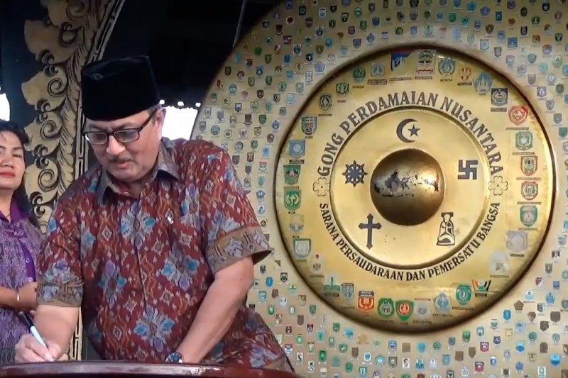 Gong Perdamaian Nusantara jadi saksi deklarasi damai lintas agama