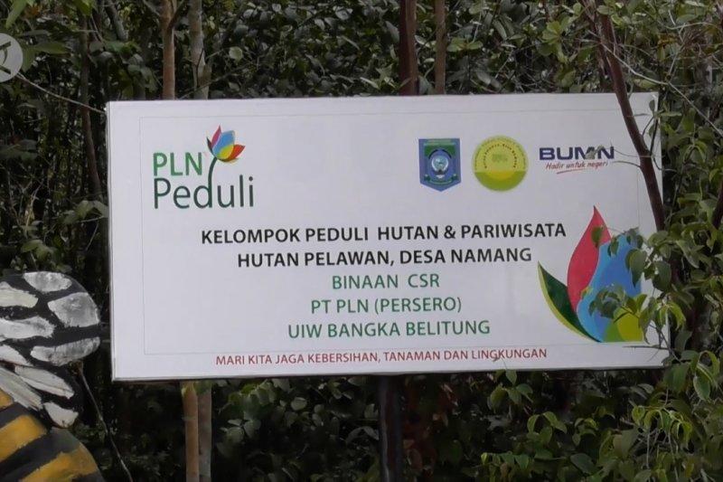 PLN bangun jembatan pelangi wisata hutan Pelawan