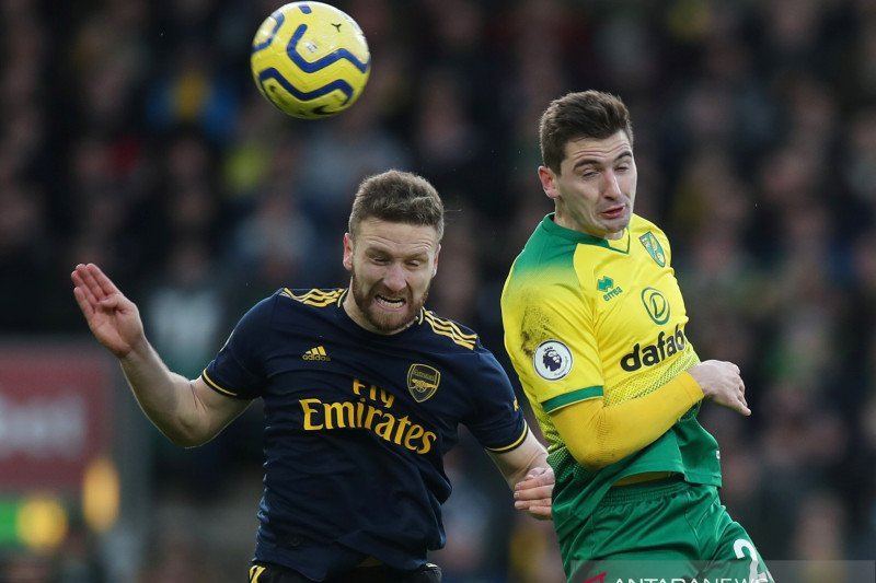 Arsenal gagal kemas tiga poin usai ditahan imbang Norwich 2-2