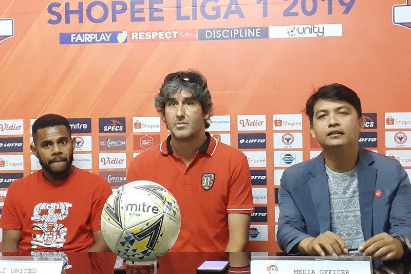 Bali United optimistis raih gelar juara Liga 1 di Padang