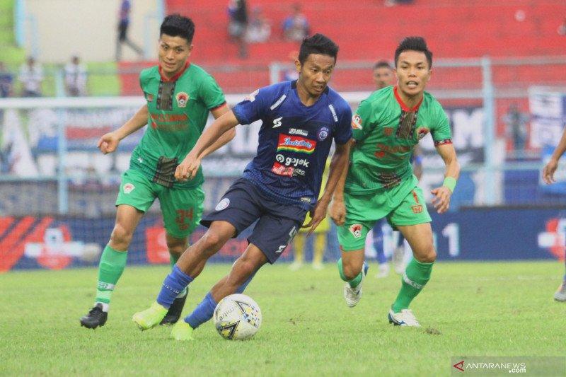 Kalteng Putra tahan imbang Arema FC di Malang