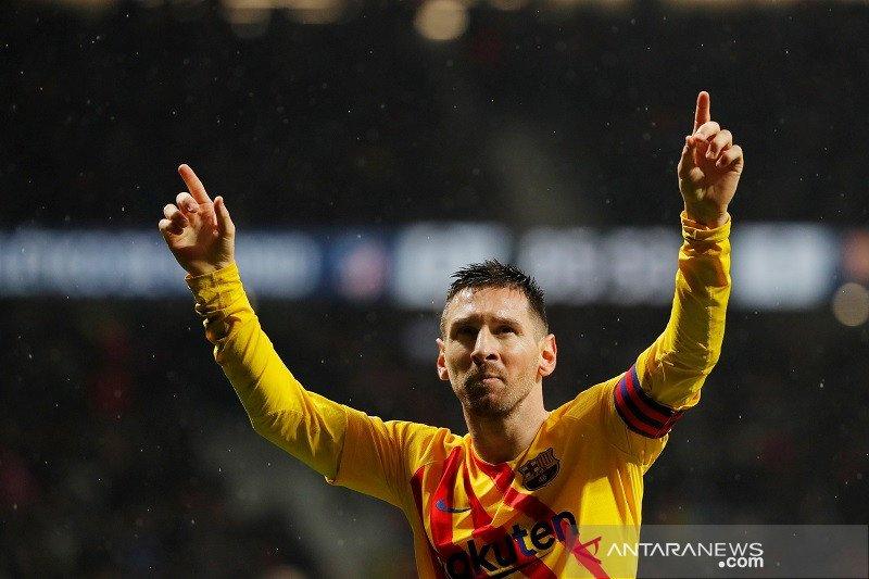 Lionel Messi jadi pembeda Barcelona atas Atletico
