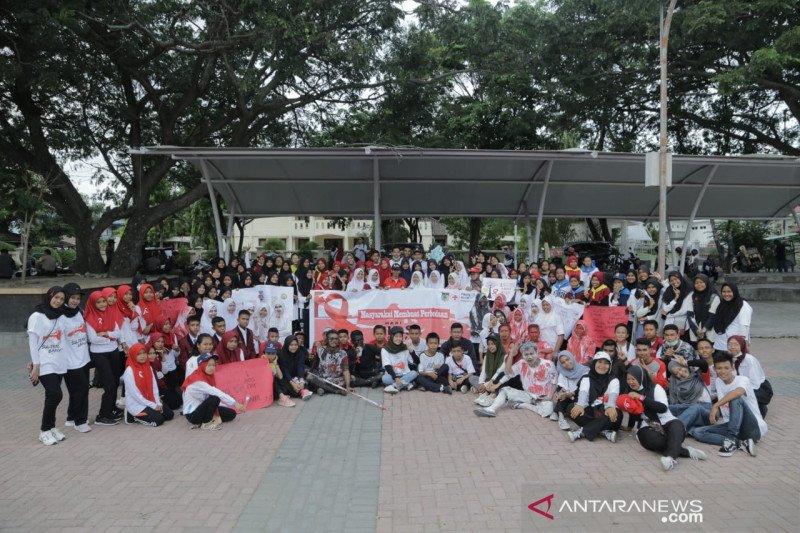 PMI Kota Palu sosialisasikan akan bahaya HIV AIDS