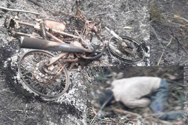 Petani ditemukan tewas di kebunnya yang terbakar
