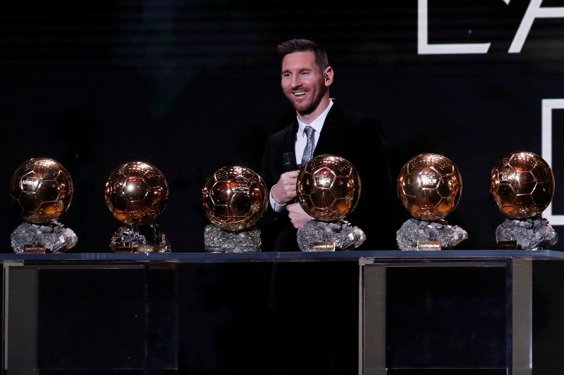 Lionel Messi raih Ballon d'Or