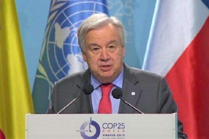 Sekjen PBB Antnio Guterres desak dunia serius tangani darurat iklim