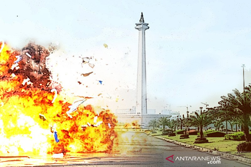 Two TNI personnel become eye witnesses of Monas Square blast: police.