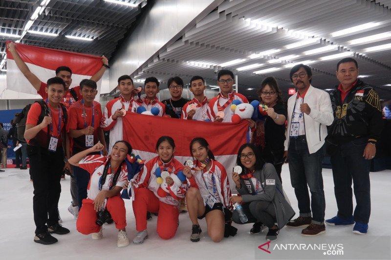Speed skating Indonesia tampakkan taji di SEA Games 2019