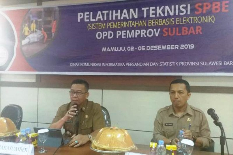 Diskominfo Sulbar gelar pelatihan teknisi SPBE bagi OPD
