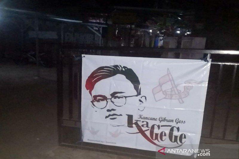Spanduk dukungan Gibran  di Pilkada Surakarta 2020 bermunculan
