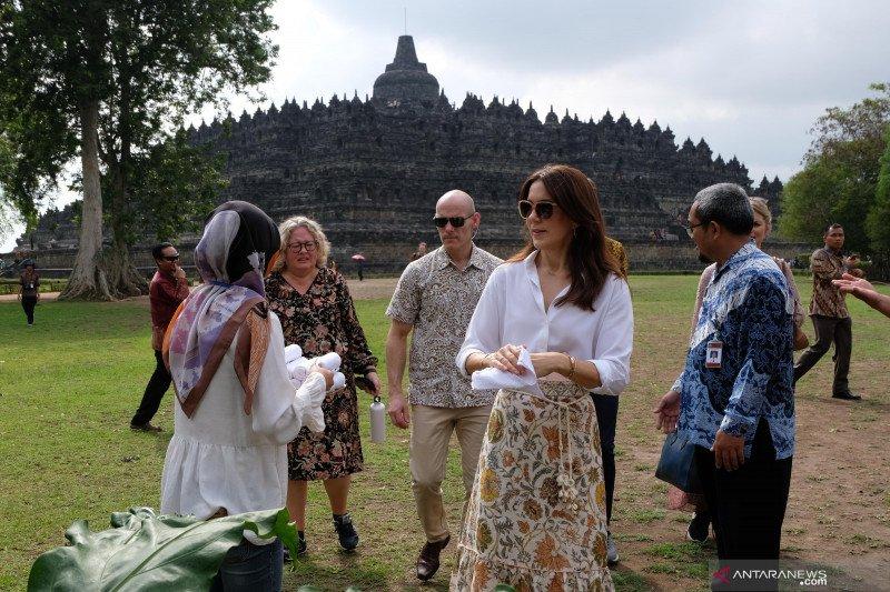 Putri mahkota Kerajaan Denmark Mary Elizabeth Donaldson kunjungi Borobudur