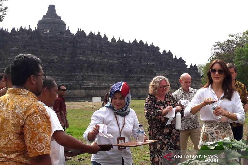 Putri Mahkota Denmark Mary Elizabeth apresiasi kelestarian Candi Borobudur
