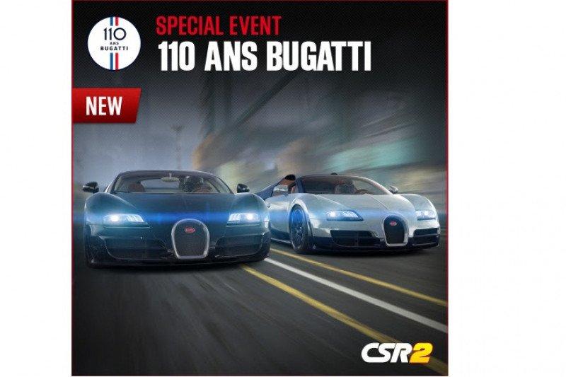 Zynga rayakan hari jadi ke-110 Bugatti dengan seri acara khusus CSR Racing 2