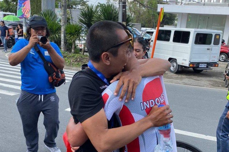 Aiman Cahyadi berhasil rebut emas pertama balap sepeda untuk Indonesia
