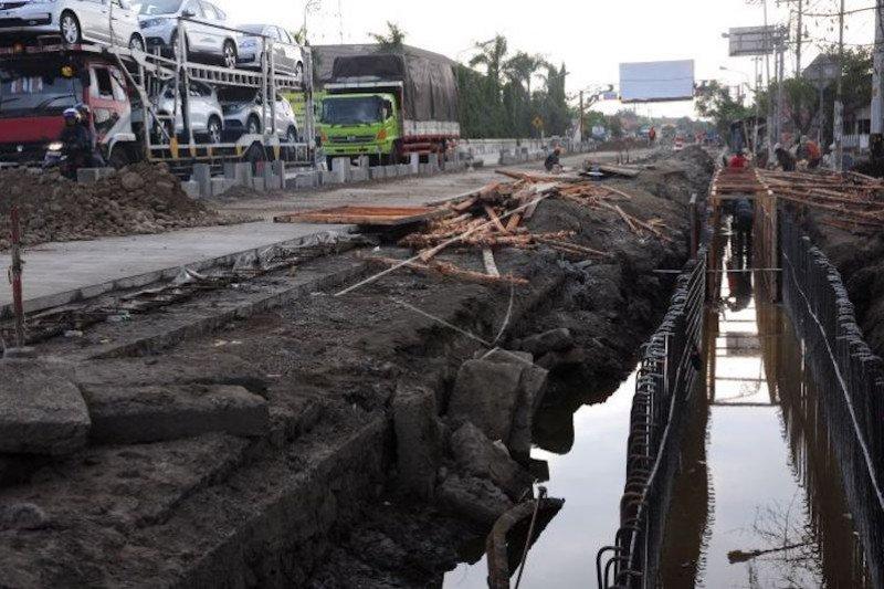 Pemprov Sumatera Selatan normalisasi drainase  jalan utama Palembang