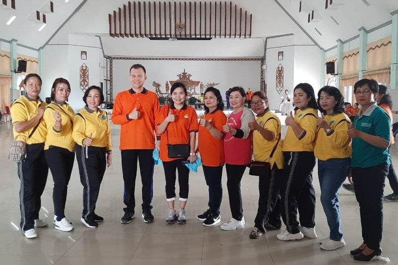 Bupati Gumas ajak masyarakat jaga kesehatan dengan rutin berolahraga