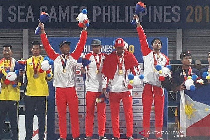 Voli pantai beregu putra raih medali emas
