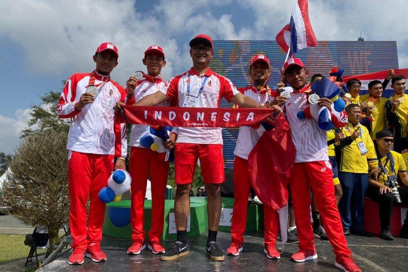 Tim balap Indonesia raih  perak setelah kalah tipis dari Thailand