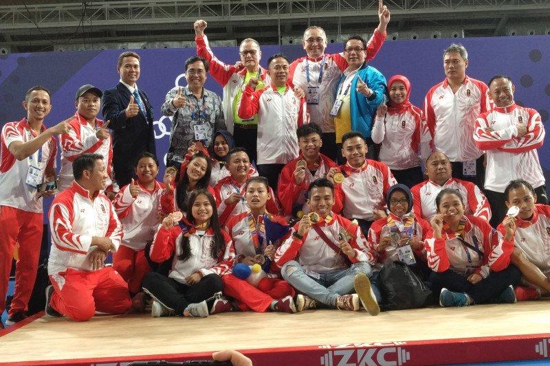 Klasemen sementara perolehan medali SEA Games  sampai Minggu pagi