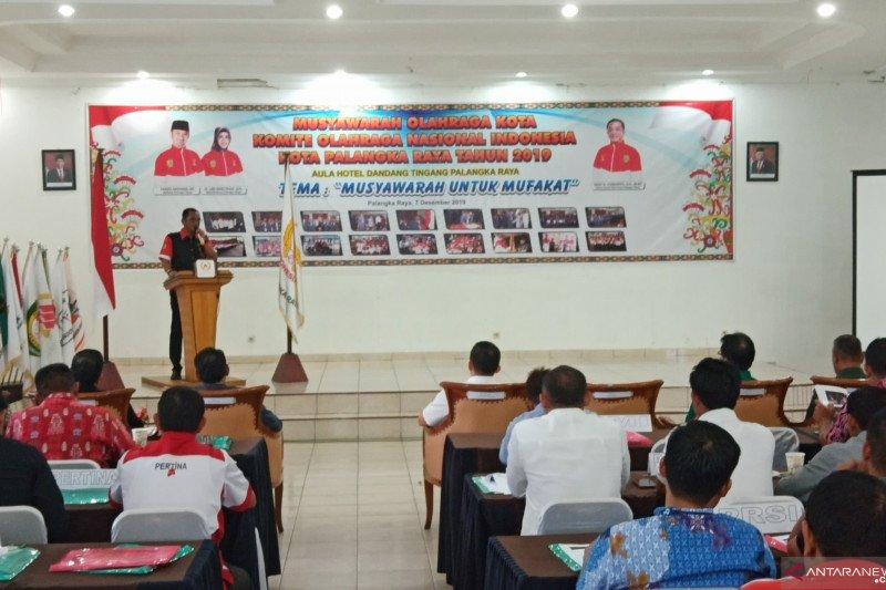 Karuhei T Asang terpilih secara aklamasi sebagai ketua KONI Palangka Raya