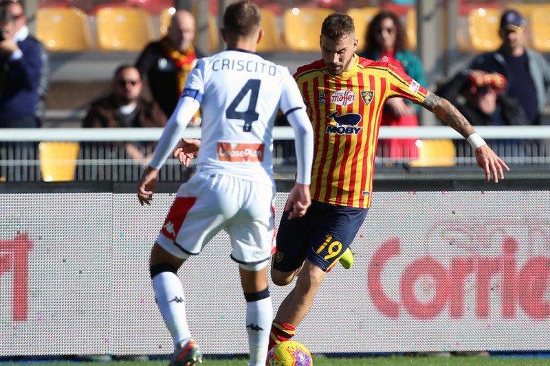 Lecce bangkit dari tertinggal 2 gol untuk imbang dengan Genoa