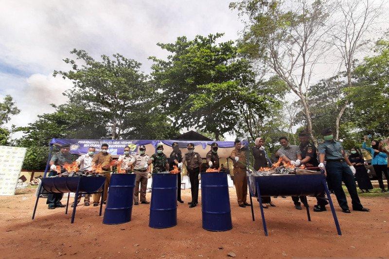 Bea Cukai Tanjungpinang musnahkan barang senilai Rp845 juta