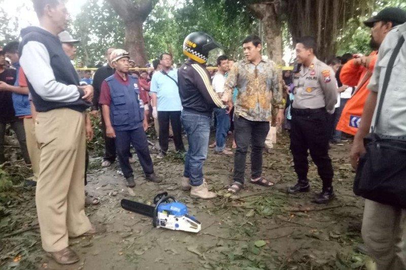 Tertimpa pohon saat hujan deras, mahasiwa di Kediri meninggal
