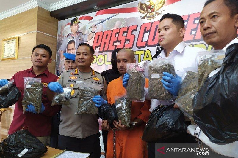 Polresta Denpasar tangkap kurir ganja 7,6 kilogram