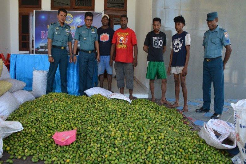 Satuan Patroli Lantamal X amankan 1,6 ton pinang asal PNG