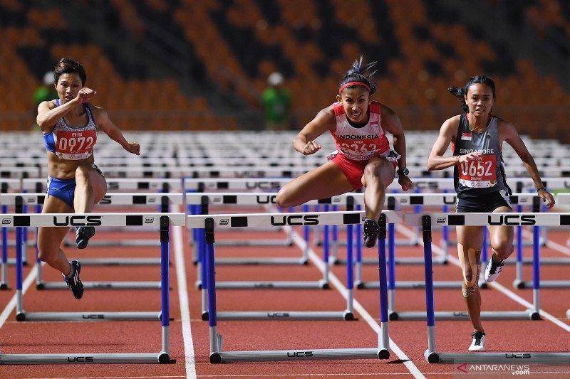 Emilia Nova sumbang emas di lari gawang 100m putri