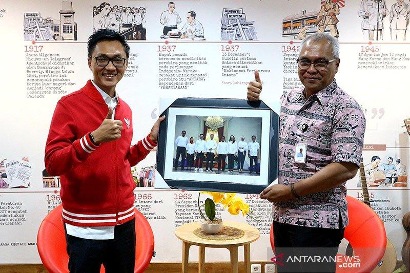 Staf Khusus Presiden Aminuddin Ma'ruf berkunjung ke LKBN ANTARA
