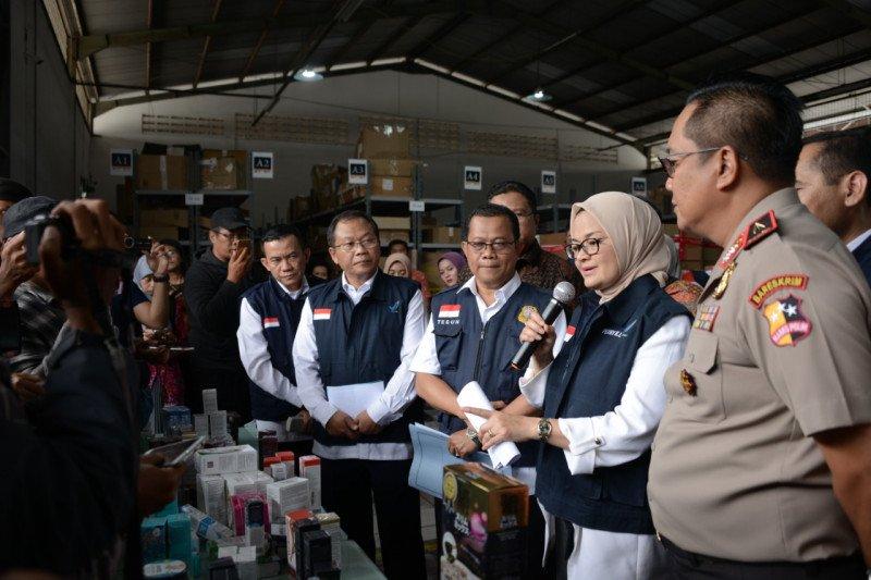 BPOM sita produk ilegal dari empat gudang di Jakarta