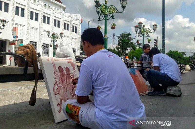 122 perupa Nusantara melukis bersama di kawasan Malioboro