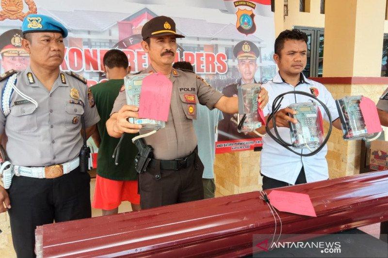 Polisi tangkap dua pencuri meteran listrik huntara Sigi