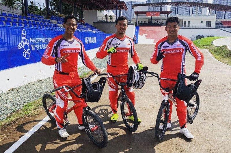 BMX Indonesia terpeleset di Tagaytay, emas pun melayang